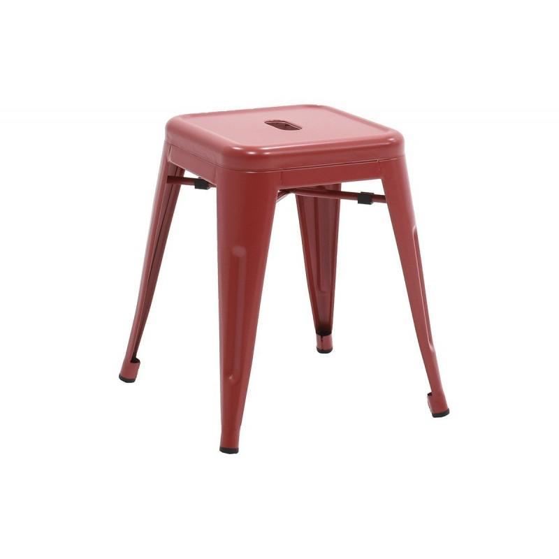 """Σκαμπώ βοηθητικό """"UTOPIA"""" μεταλλικό σε χρώμα κόκκινο 40x40x45"""