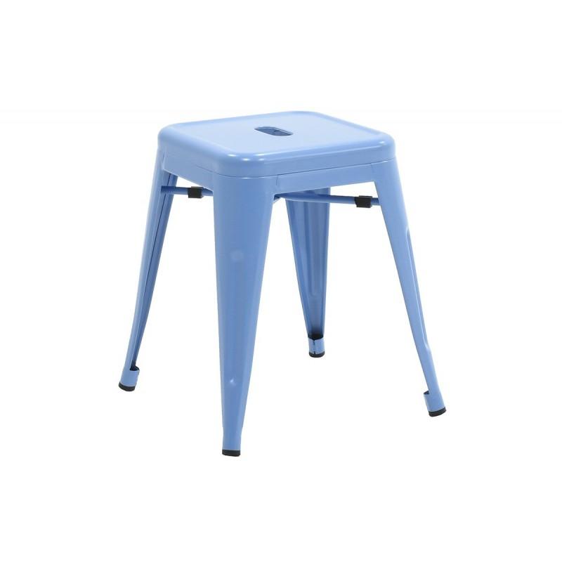 """Σκαμπώ βοηθητικό """"UTOPIA"""" μεταλλικό σε χρώμα μπλε 40x40x45"""