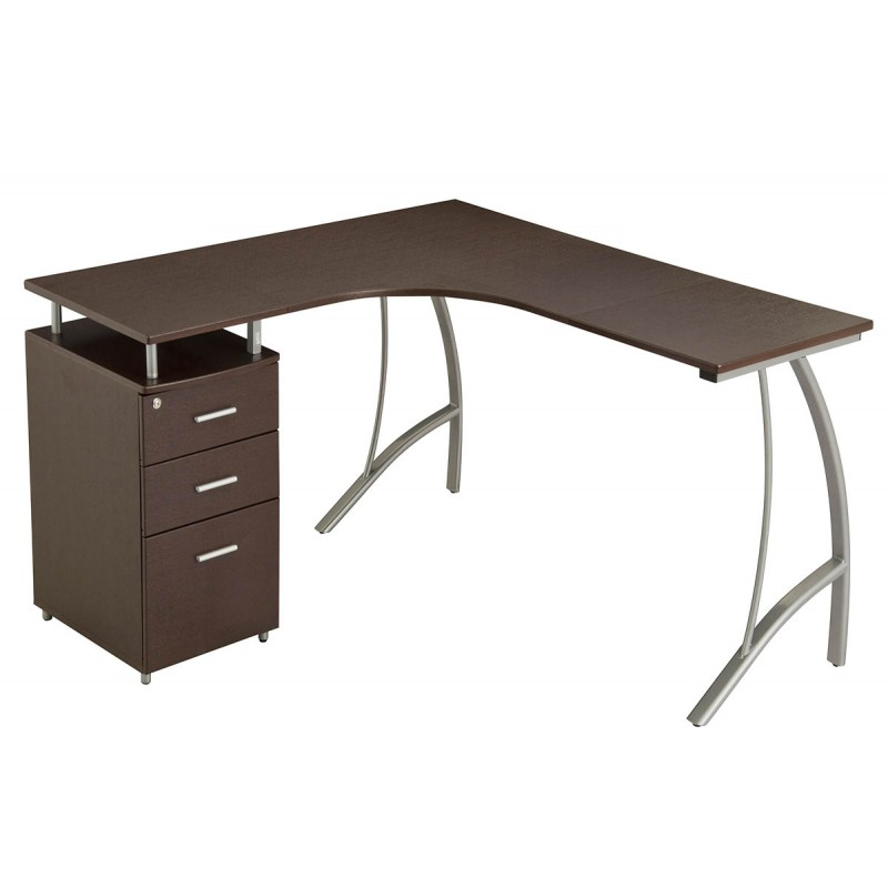 """Γραφείο """"CARMEN"""" χρώμα βέγγε 151,5x143,5x76"""