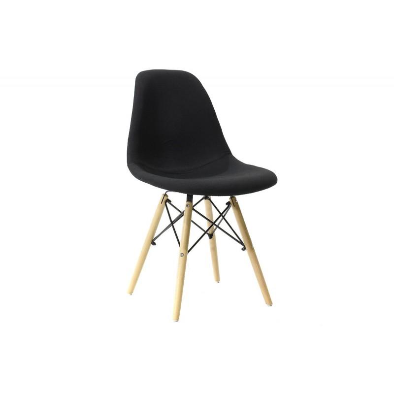 """Καρέκλα """"JULITA"""" pp-υφασμάτινη σε χρώμα μαύρο 54x46x83"""