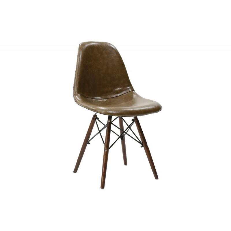 """Καρέκλα """"JULITA"""" pp-pu σε χρώμα σκούρο καφέ 52.5x46.5x82.5"""