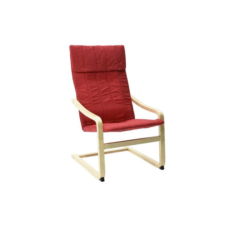 """Πολυθρόνα """"RENATA"""" υφασμάτινη σε χρώμα κόκκινο 73x58x99"""