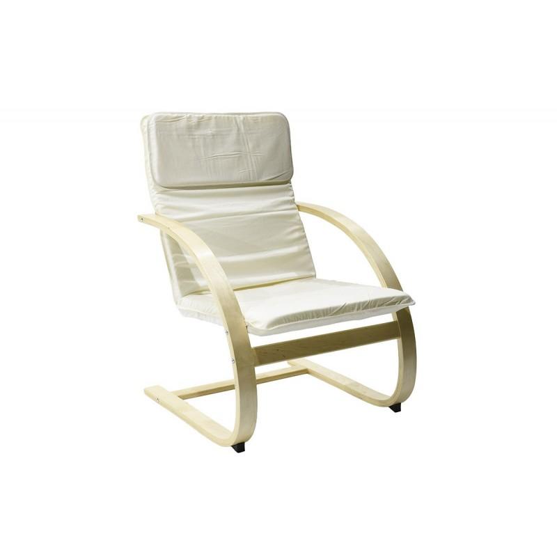 """Πολυθρόνα """"RENA"""" υφασμάτινη σε χρώμα εκρού 80x67x97"""