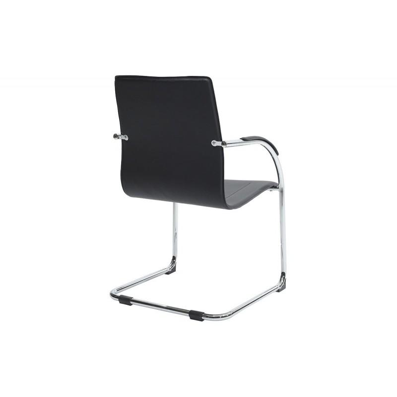 """Πολυθρόνα επισκέπτη """"ADELE"""" από τεχνόδερμα σε χρώμα μαύρο 61x59x94"""