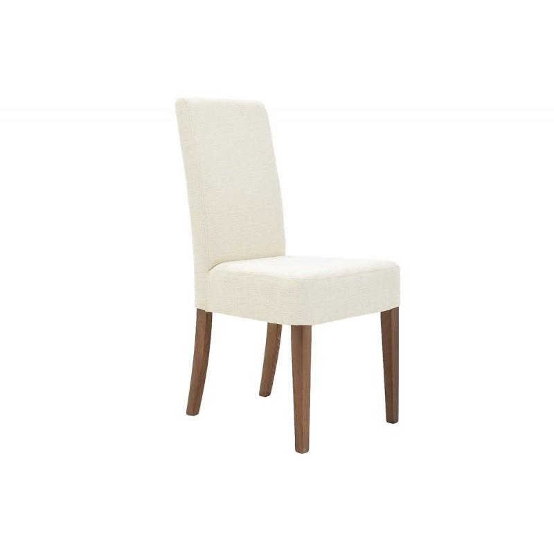 """Καρέκλα """"DITTA"""" από μασίφ ξύλο από ύφασμα σε χρώμα εκρού 44x45x96"""