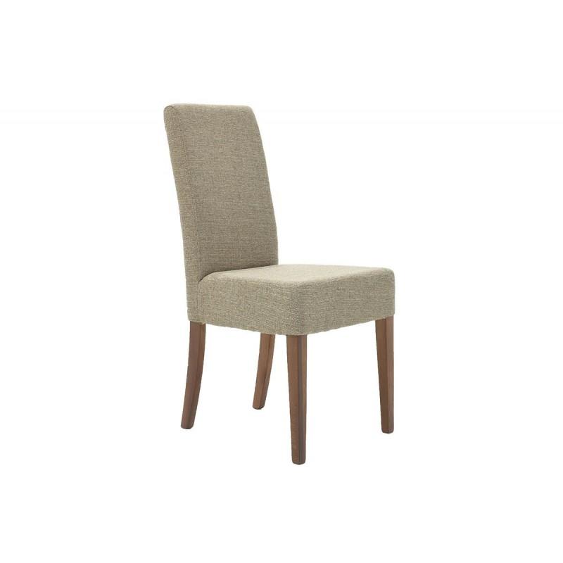 """Καρέκλα """"DITTA"""" από μασίφ ξύλο και ύφασμα σε χρώμα καφέ 44x45x96"""