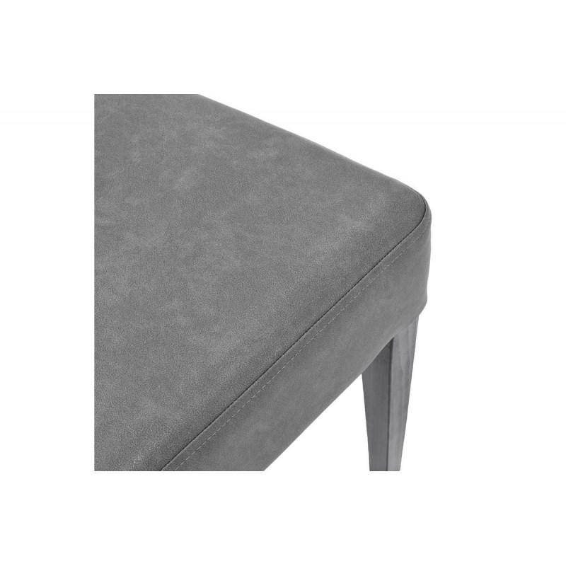 """Καρέκλα """"DITTA"""" από μασίφ ξύλο και τεχνόδερμα σε χρώμα ανθρακί 44x45x96"""
