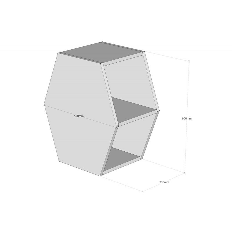 """Βοηθητικό τραπεζάκι """"GIFT"""" σε χρώμα sonoma 60x33x52"""