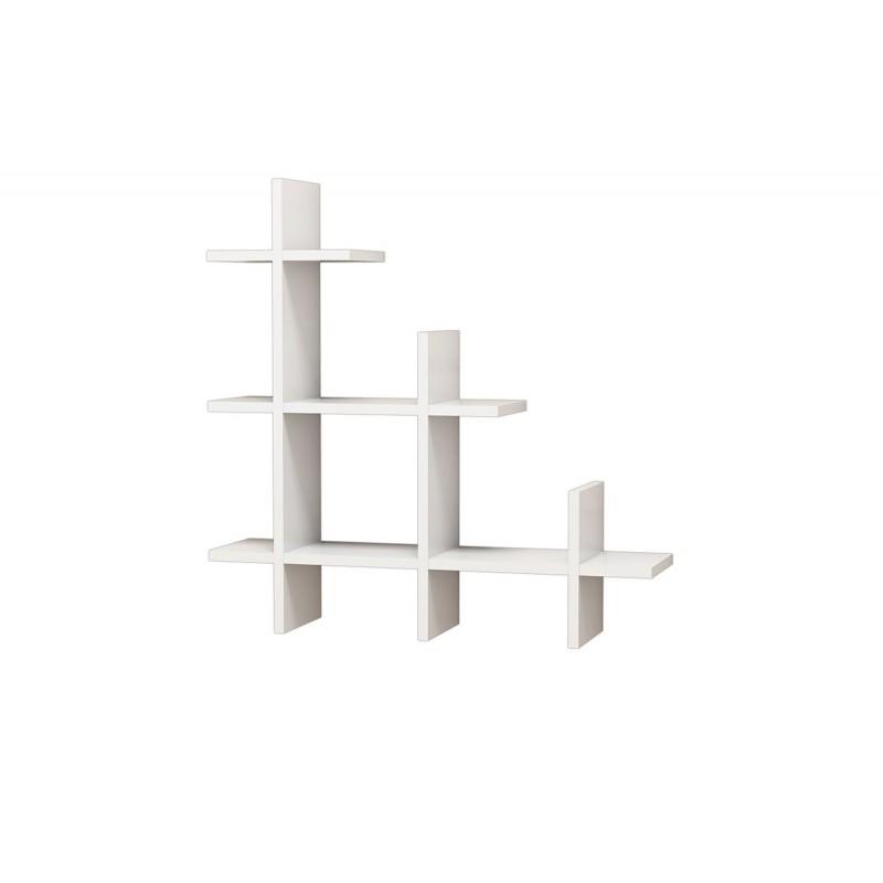 """Ράφια τοίχου """"3 GEN WALL"""" σε χρώμα λευκό 80x18x80"""