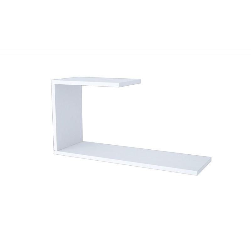 """Ραφιέρα τοίχου """"J"""" σε χρώμα λευκό 60x20x27"""