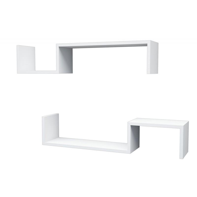 """Ραφιέρα τοίχου """"LIATRIS"""" σε χρώμα λευκό 96x19,5x19,5"""