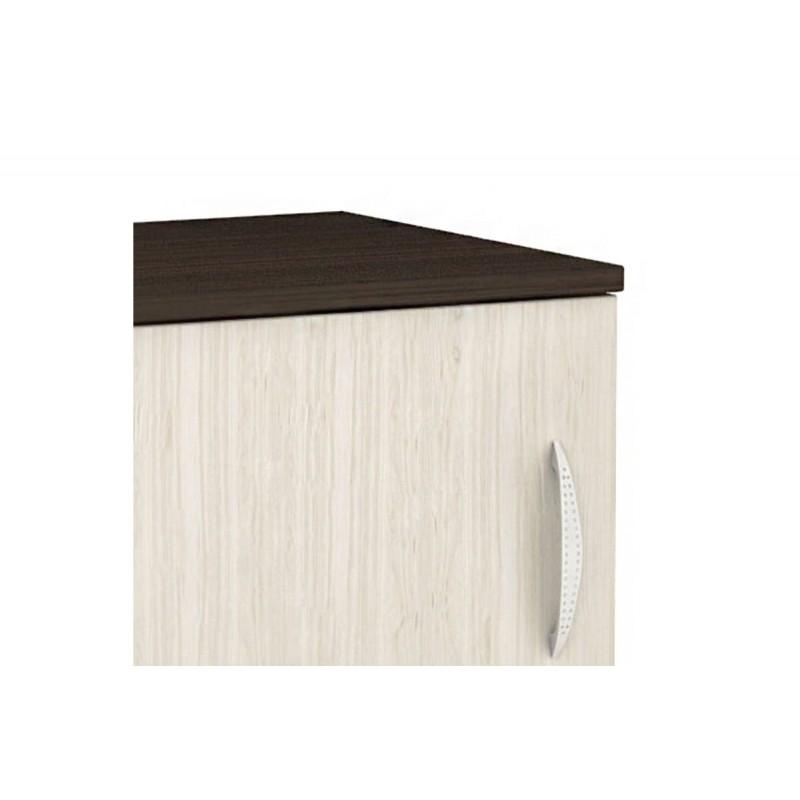 """Κομοδίνο """"DECO 111"""" με ένα ντουλάπι σε χρώμα βέγγε-δρυς 40x35,5x41"""