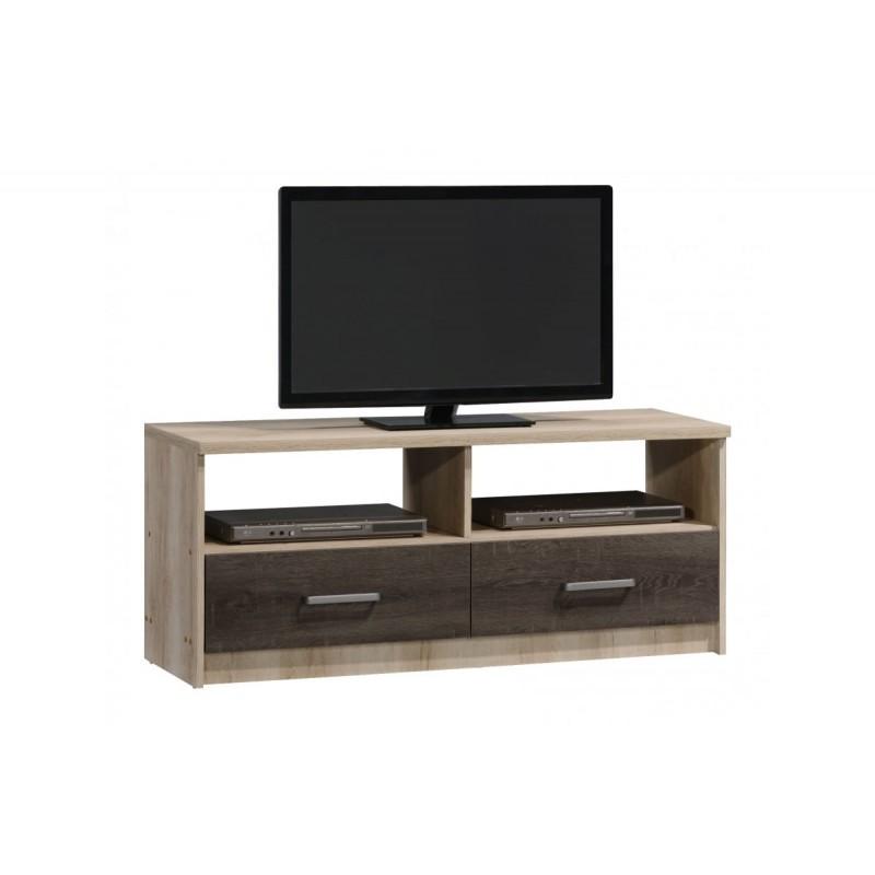 """Έπιπλο τηλεόρασης """"OLYMPUS"""" σε χρώμα castillo-toro δρυς 120x39,5x50"""