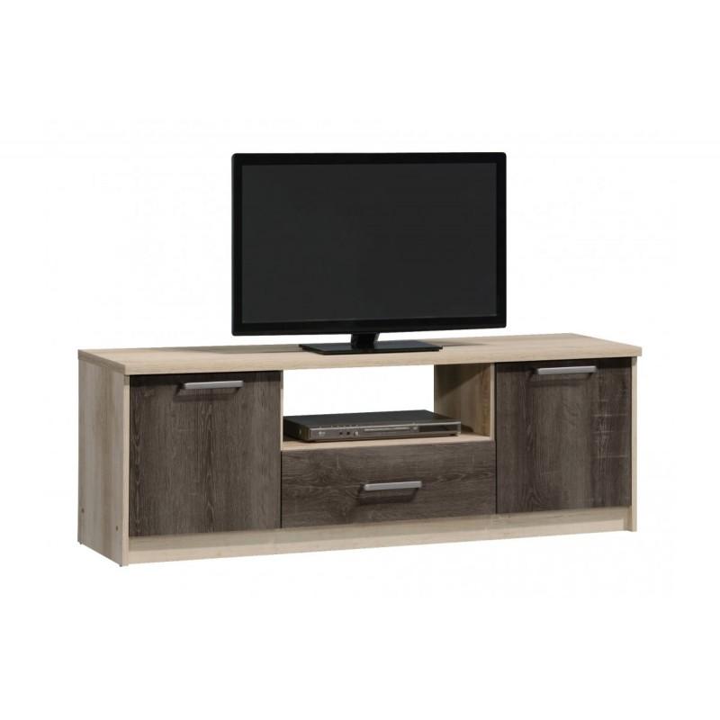 """Έπιπλο τηλεόρασης """"OLYMPUS"""" σε χρώμα castillo-toro δρυς 144x39x50,5"""