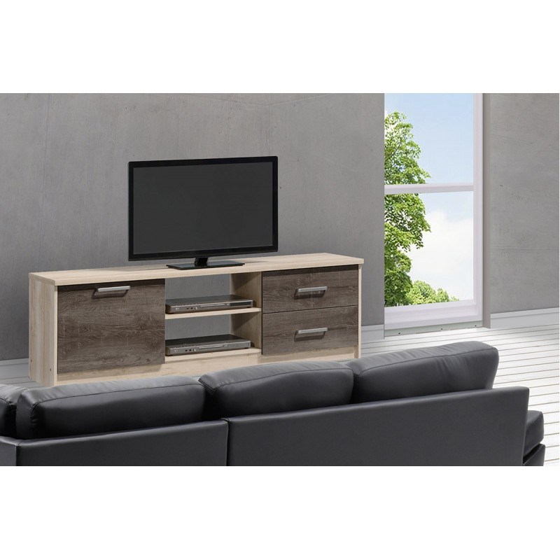 """Έπιπλο τηλεόρασης """"OLYMPUS"""" σε χρώμα castillo-toro δρυς 160x39,5x50,5"""