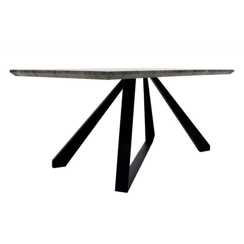 """Τραπέζι """"SOHO"""" ορθογώνιο σε χρώμα γκρι cement 180x90x75"""