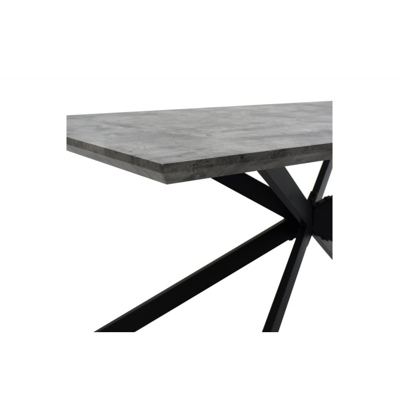 """Τραπέζι """"STYLISH"""" ορθογώνιο σε χρώμα γκρι-cement 180x90x75"""