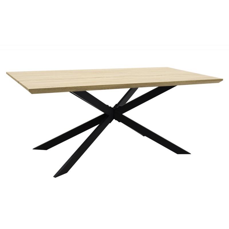 """Τραπέζι """"STYLISH"""" ορθογώνιο σε χρώμα σονόμα 180x90x75"""
