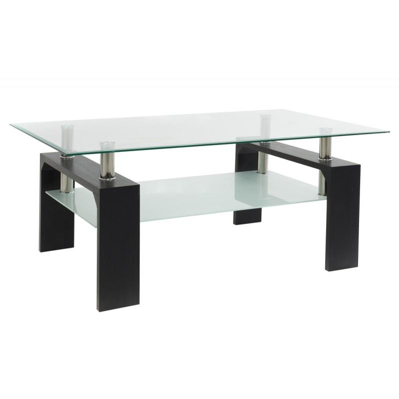 """Τραπέζι σαλονιού """"MAIHA"""" γυάλινο σε βέγγε χρώμα 100x60x42,5"""