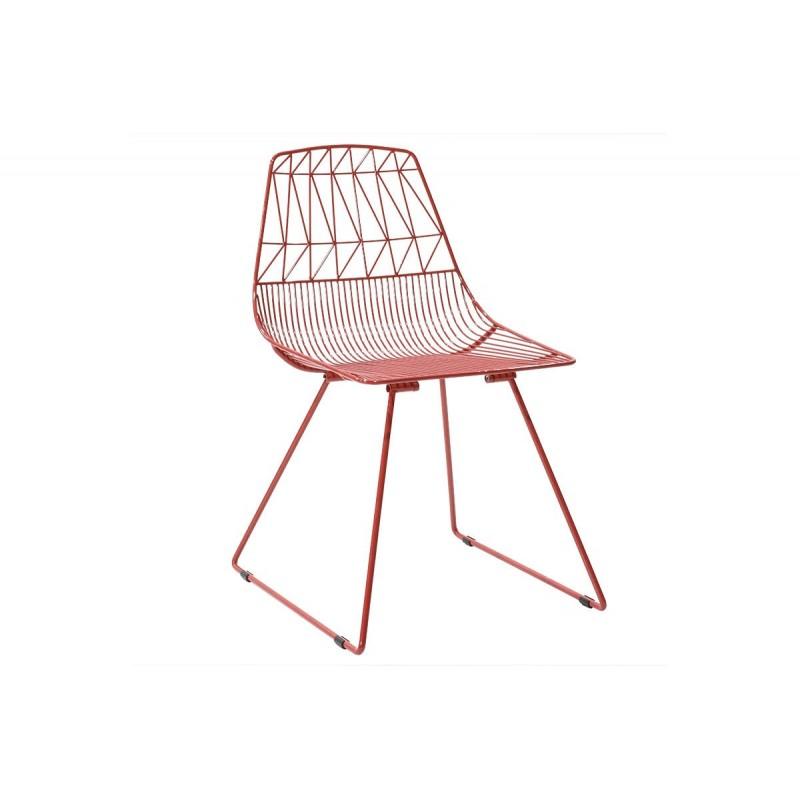 """Καρέκλα """"MORENA"""" μεταλλική σε χρώμα κόκκινο 55x49x80"""