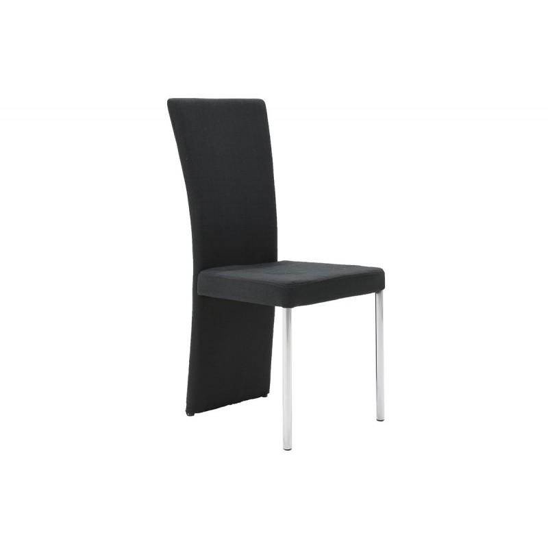 """Καρέκλα """"TINA"""" από ύφασμα σε χρώμα μαύρο 55x43x97"""