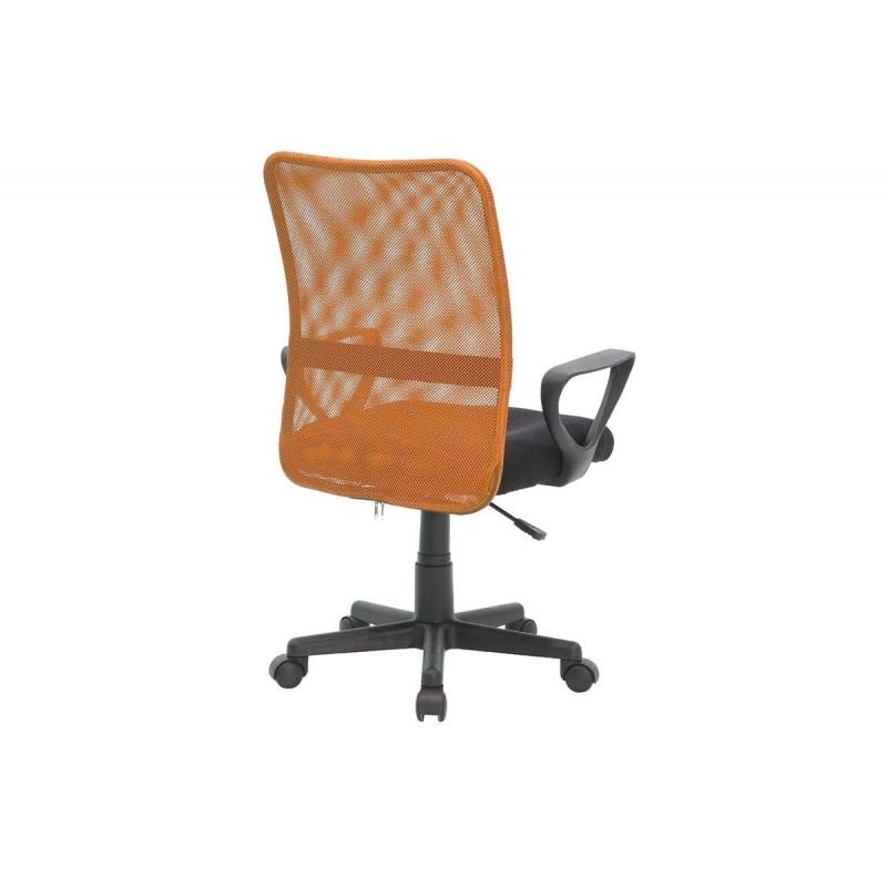 """Παιδική πολυθρόνα εργασίας """"JORDAN"""" από ύφασμα mesh σε μαύρο-πορτοκαλί χρώμα 60x62x85/93"""
