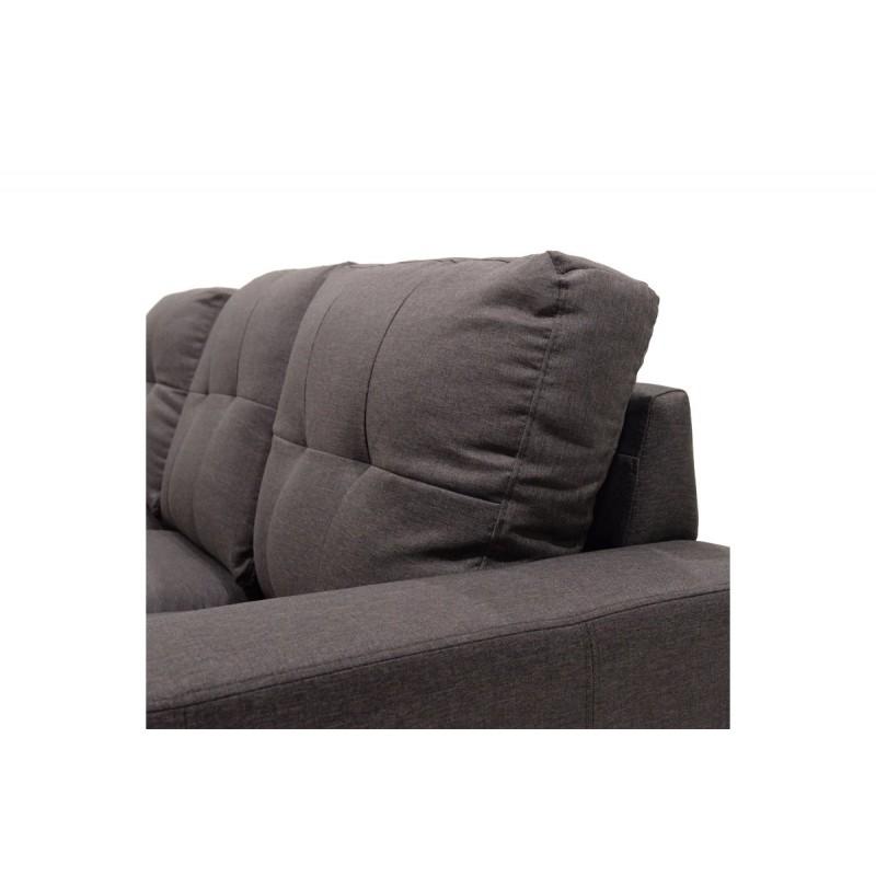 """Γωνιακός καναπές """"BETTY"""" αναστρέψιμος υφασμάτινος σε χρώμα καφέ 200x160x90"""