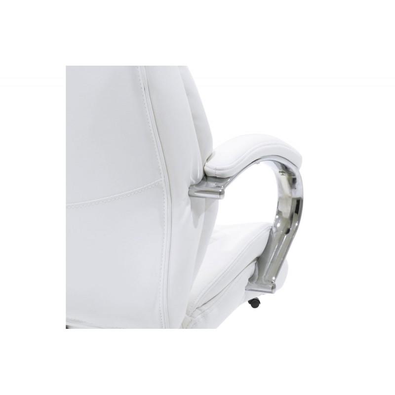 """Πολυθρόνα διευθυντή """"MACABO"""" από τεχνόδερμα σε χρώμα λευκό 66x58x120/128"""