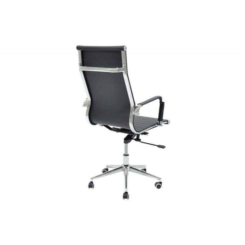 """Πολυθρόνα διευθυντή """"DORO"""" από τεχνόδερμα σε χρώμα μαύρο 57x56x114"""