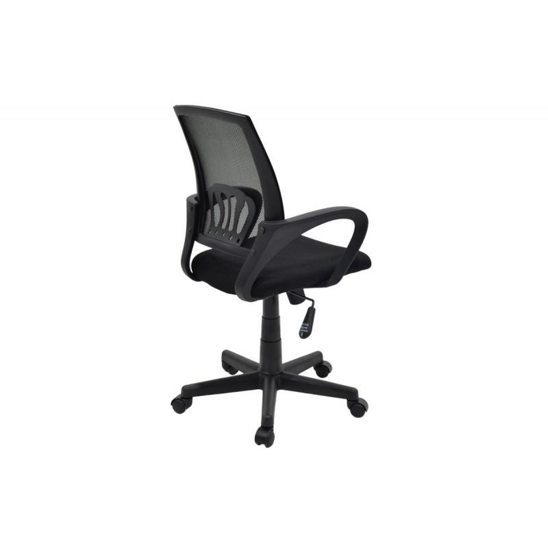 """Πολυθρόνα εργασίας """"BERTO"""" με ύφασμα mesh σε χρώμα μαύρο 56x54x90/100"""