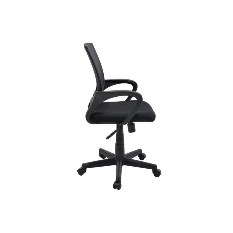 """Πολυθρόνα εργασίας """"BERTO"""" με ύφασμα mesh σε χρώμα μαύρο-γκρι 56x54x90/100"""