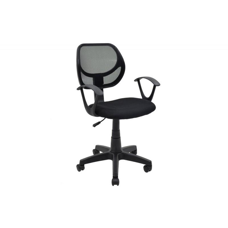 """Πολυθρόνα εργασίας """"SARA"""" με ύφασμα mesh σε χρώμα μαύρο 56x51x88/100"""
