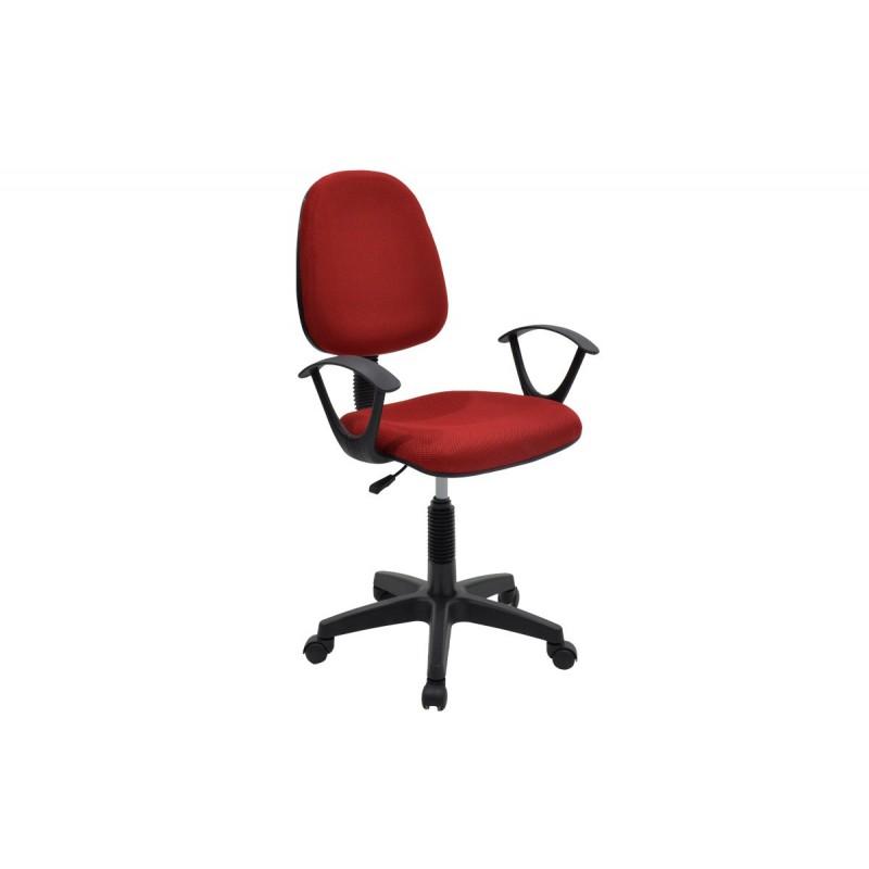 """Πολυθρόνα εργασίας """"MARIA"""" με ύφασμα mesh σε χρώμα κόκκινο 63x53x94/108"""