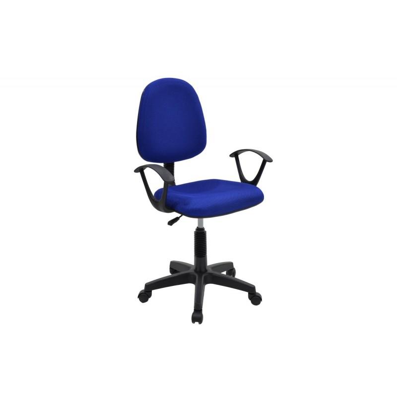 """Πολυθρόνα εργασίας """"MARIA"""" με ύφασμα mesh σε χρώμα μπλε 63x53x94/108"""