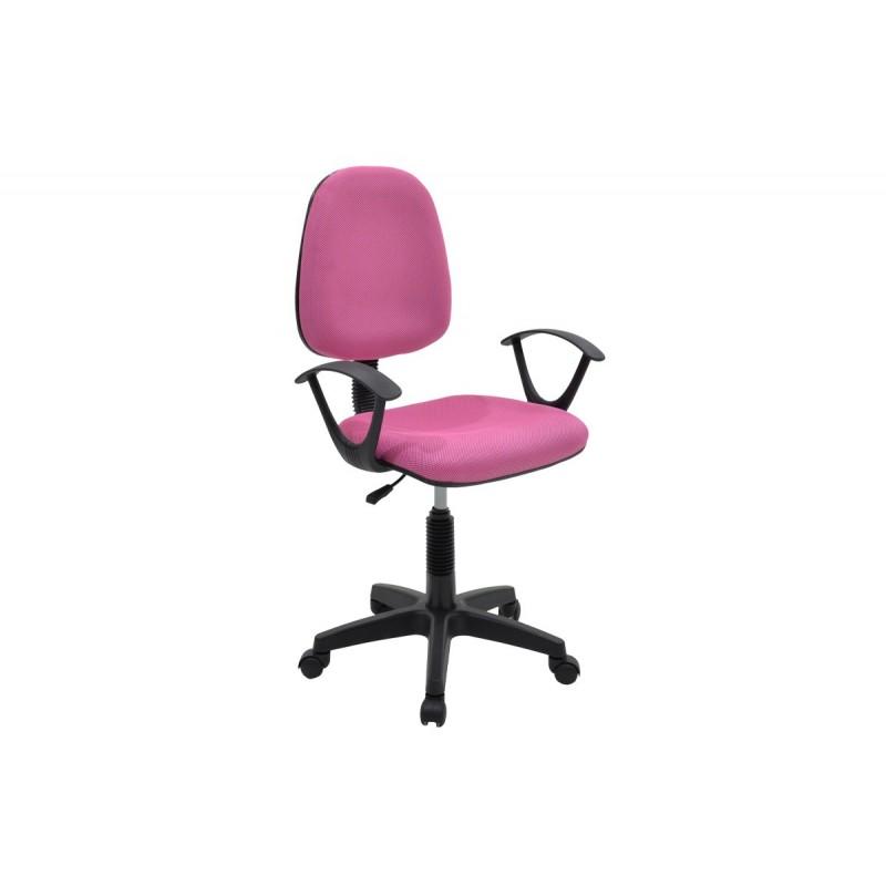 """Πολυθρόνα εργασίας """"MARIA"""" με ύφασμα mesh σε χρώμα ροζ 63x53x94/108"""