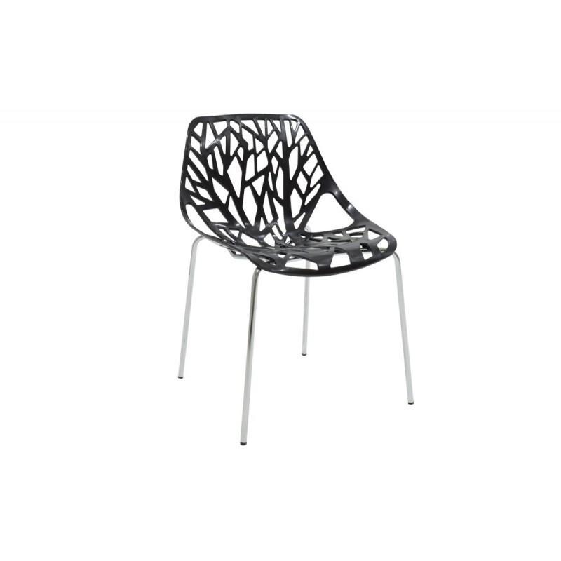 """Καρέκλα """"MARE"""" πολυπροπυλενίου σε χρώμα μαύρο 53x45x78"""