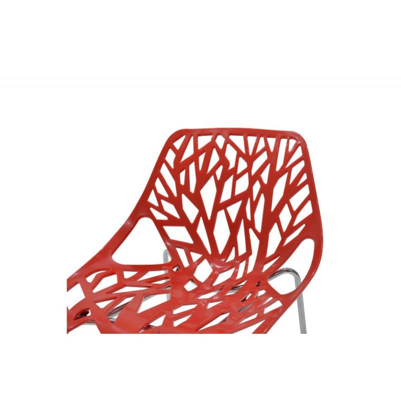 """Καρέκλα """"MARE"""" πολυπροπυλενίου σε χρώμα κόκκινο 53x45x78"""