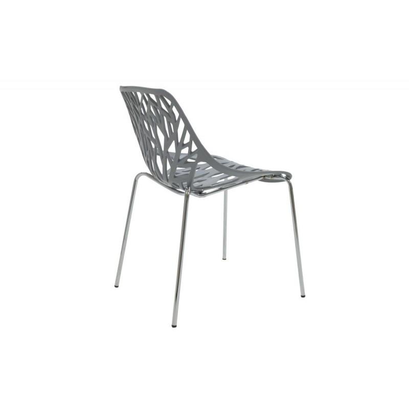 """Καρέκλα """"MARE"""" πολυπροπυλενίου σε χρώμα γκρι 53x45x78"""