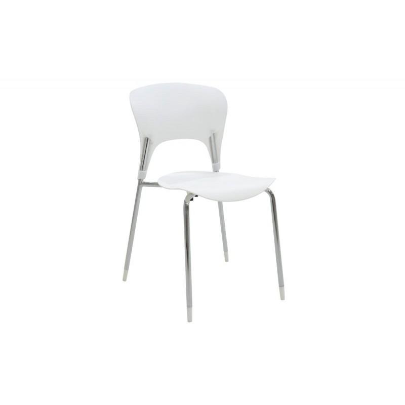 """Καρέκλα """"LOUSIA"""" πολυπροπυλενίου σε χρώμα λευκό 42x53x79"""