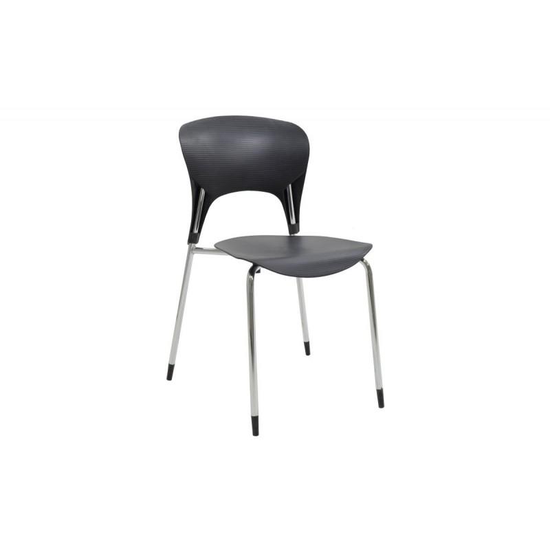 """Καρέκλα """"LOUSIA"""" πολυπροπυλενίου σε χρώμα μαύρο 42x53x79"""