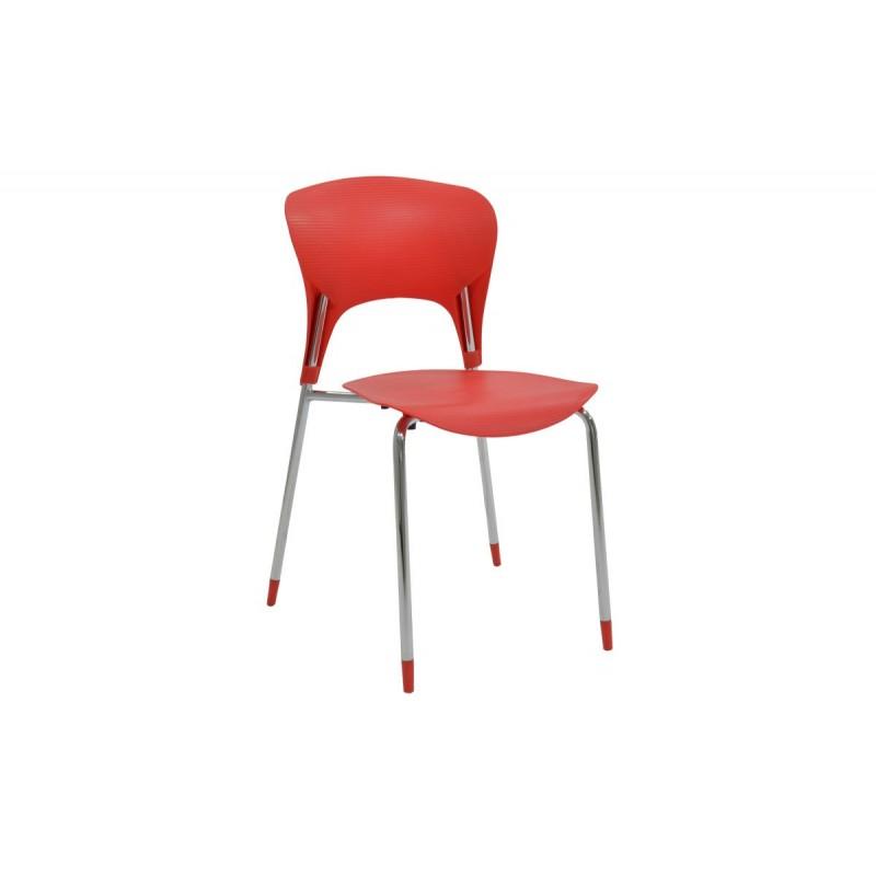 """Καρέκλα """"LOUSIA"""" πολυπροπυλενίου σε χρώμα κόκκινο 42x53x79"""