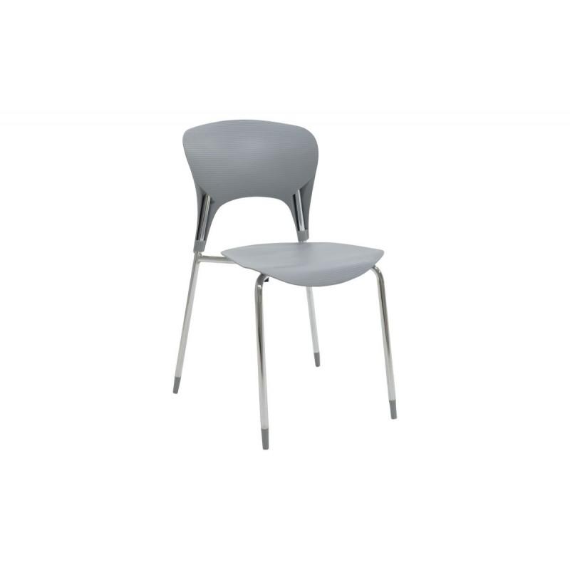 """Καρέκλα """"LOUSIA"""" πολυπροπυλενίου σε χρώμα γκρι 42x53x79"""