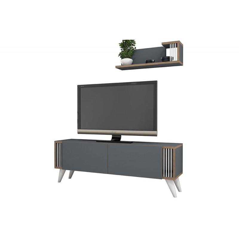 """Έπιπλο τηλεόρασης """"NEGRO"""" σε χρώμα ανθρακί 120x29x41"""