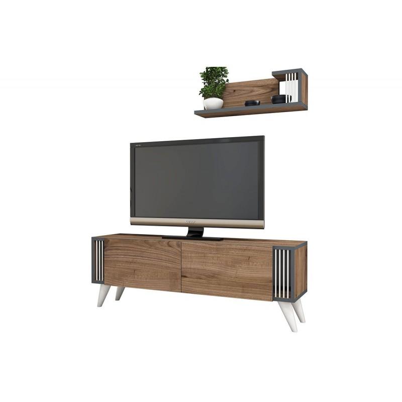 """Έπιπλο τηλεόρασης """"NEGRO"""" σε χρώμα καρυδί 120x29x41"""