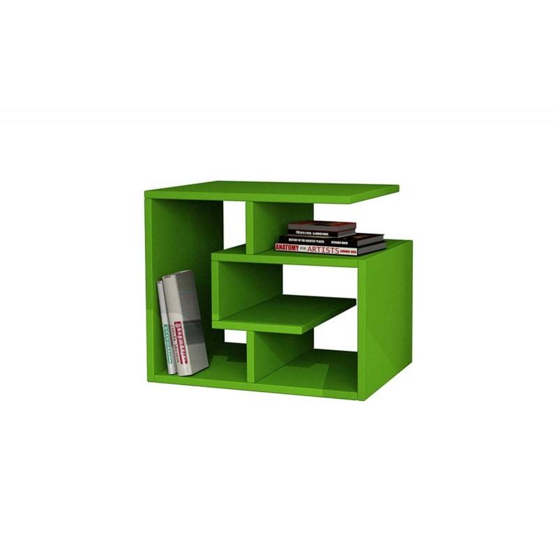 """Βοηθητικό τραπεζάκι σαλονιού """"LABIRENT"""" χρώμα πράσινο 54x40x45εκ"""