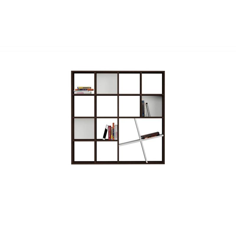 """Βιβλιοθήκη """"HONEY"""" σε χρώμα βέγγε - λευκό 125x24x125"""