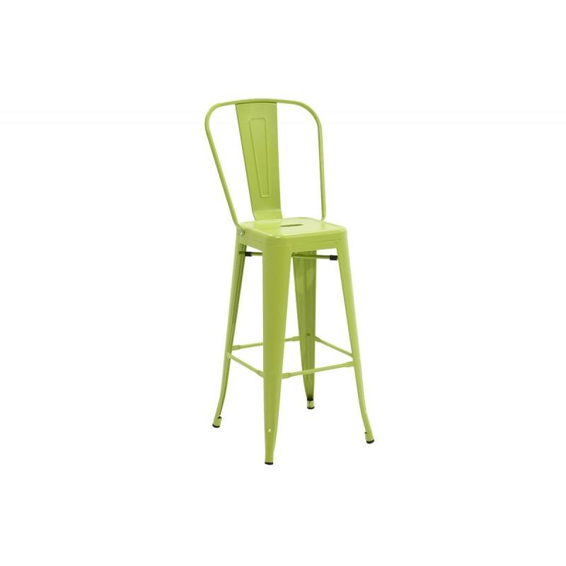 """Σκαμπώ μπαρ """"UTOPIA"""" με πλάτη μεταλλικό σε χρώμα πράσινο 50x44x118"""