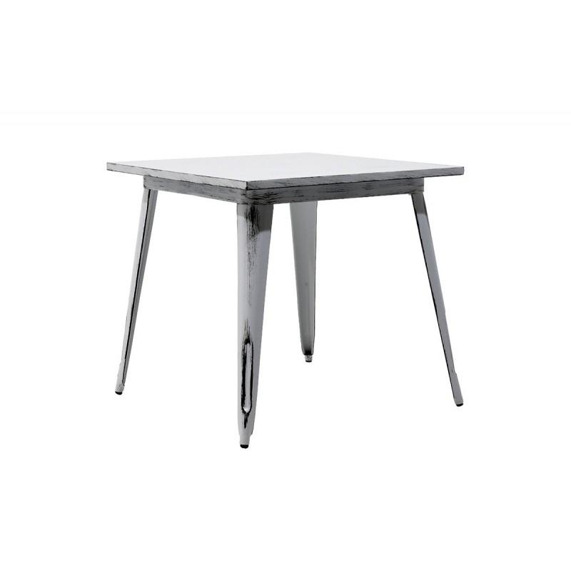 """Τραπέζι """"UTOPIA"""" μεταλλικό σε χρώμα antique λευκό 80x80x75,5"""
