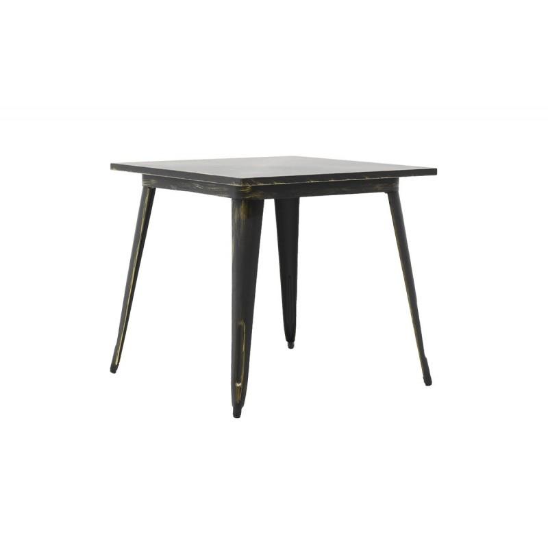 """Τραπέζι """"UTOPIA"""" μεταλλικό σε χρώμα antique μαύρο 80x80x75,5"""
