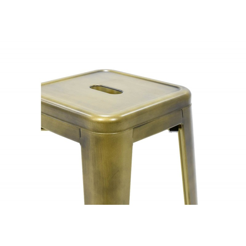 """Σκαμπώ μπαρ """"UTOPIA"""" μεταλλικό σε χρώμα μαύρο χρυσό 43x43x76"""